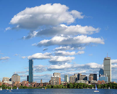 Charles River Cloud Stack Boston Ma Poster by Toby McGuire
