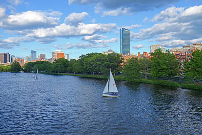 Charles River Sailboat Boston Ma Hancock Poster by Toby McGuire