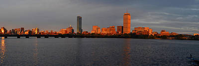 Charles River Sunset Panorama Boston Ma Poster by Toby McGuire