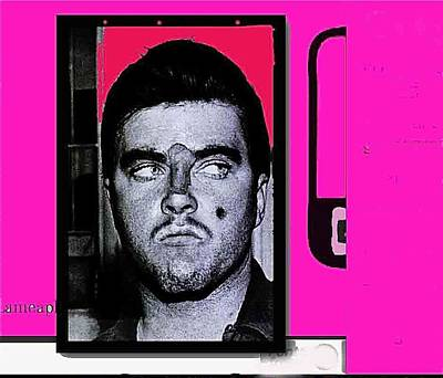 Charles Smitty Schmid Arrest Photo With Makeup Collage  Tucson Arizona 1965-2008 Poster by David Lee Guss