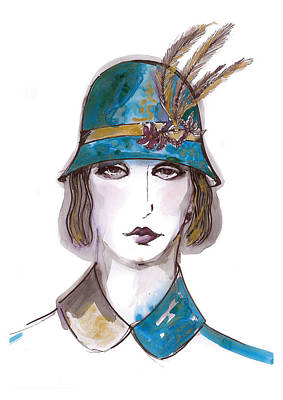 Charleston Girl Watercolor Poster by Marian Voicu