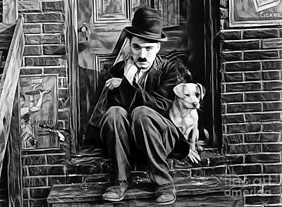 Charlie Chaplin Collection Poster by Marvin Blaine