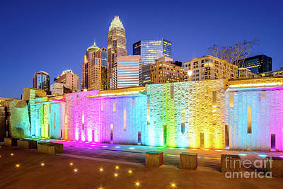 Charlotte At Night Blue Dusk Sky Photo Poster by Paul Velgos