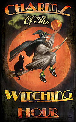 Charms Of The Witching Hour Poster by Joel Payne