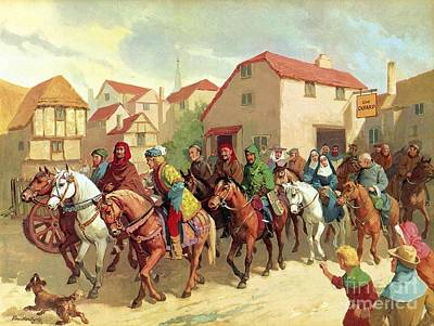 Chaucer's Pilgrims Poster by van der Syde