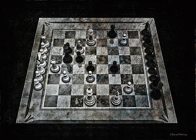 Checkmate In One Move Poster by Ramon Martinez