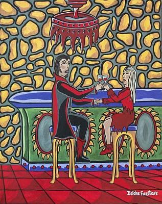 Cheers Up My Bloody Valentine Poster by Deidre Firestone