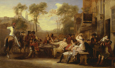 Chelsea Pensioners Receiving The Gazette Announcing The Battle Of Waterloo Poster by David Wilkie