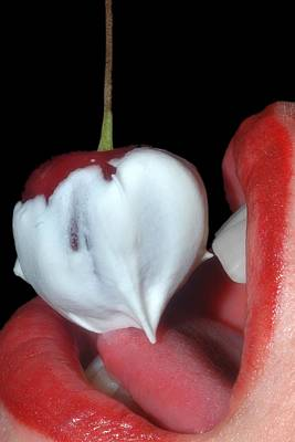 Cherries And Cream Poster by Joann Vitali