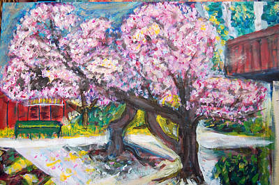 Cherry Blossom Time Poster by Carolyn Donnell