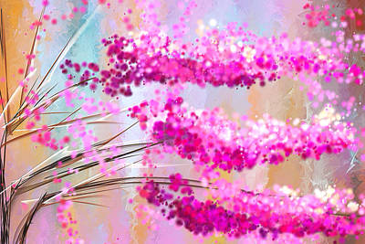 Cherry Blossoms Impressionist Poster by Lourry Legarde