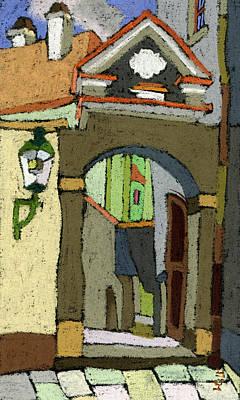 Chesky Krumlov Old Street Latran  Poster by Yuriy  Shevchuk