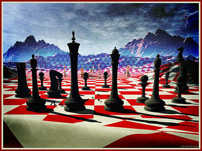 Chess In The Fifth Dimension Poster by Steve Grochowsky