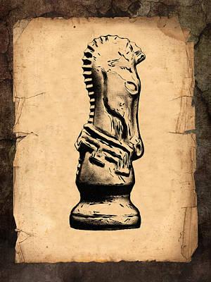 Chess Knight Poster by Tom Mc Nemar