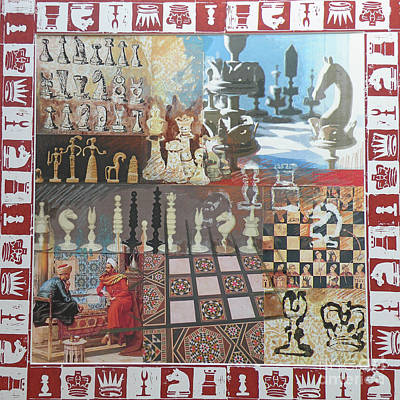 Chess Poster by Leigh Banks
