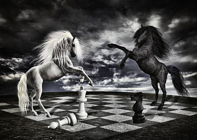 Chess Players Poster by Mihaela Pater