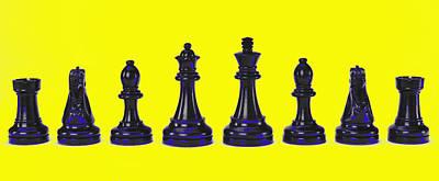 Chessmen Poster by Robert Ponzoni