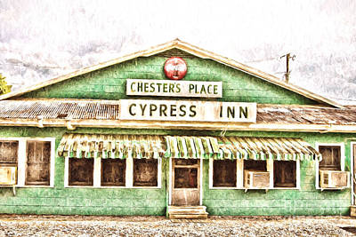 Chester's Place Cypress Inn Poster by Scott Pellegrin
