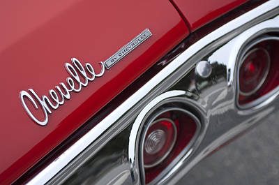 Chevrolet Chevelle Ss Taillight Emblem 2 Poster by Jill Reger