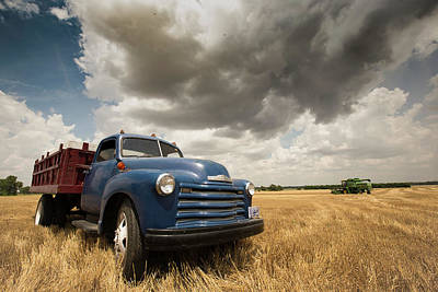 Chevy Grain Truck 2016 Poster by Chris Harris