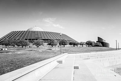 Chicago Adler Planetarium Black And White Picture Poster by Paul Velgos