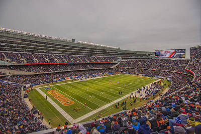 Chicago Bears Soldier Field 7785 Poster by David Haskett