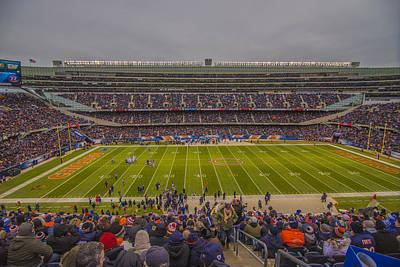 Chicago Bears Soldier Field 7818 Poster by David Haskett
