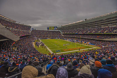 Chicago Bears Soldier Field 7837 Poster by David Haskett