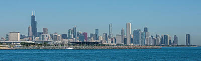 Chicago City Skyline Poster by Paul Freidlund