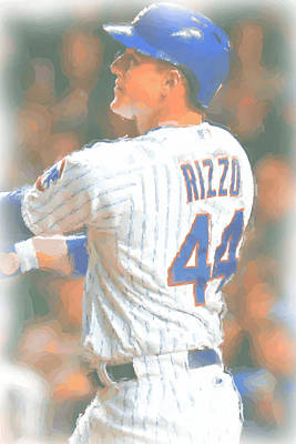 Chicago Cubs Anthony Rizzo 2 Poster by Joe Hamilton