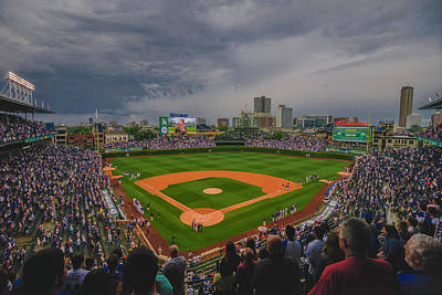 Chicago Cubs Wrigley Field 4 8213 Poster by David Haskett