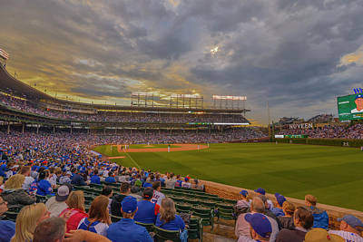 Chicago Cubs Wrigley Field 6 8252 Poster by David Haskett