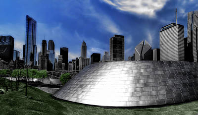 Chicago Millennium Park Bp Bridge Pa 01 Poster by Thomas Woolworth