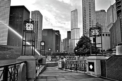 Chicago Riverwalk 2016 Poster by Frozen in Time Fine Art Photography