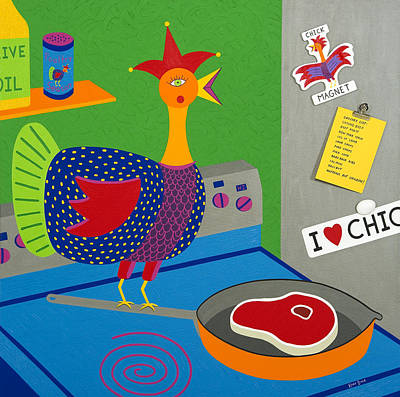 Chicken Fried Steak Poster by Kort Duce