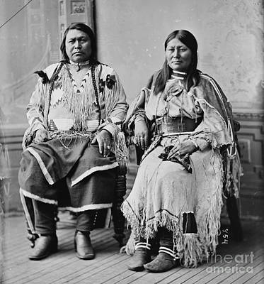 Chief Ouray And Wife Chipeta Poster by Pg Reproductions