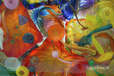 Chihuly Glass 2 Poster by Safe Haven Photography Northwest