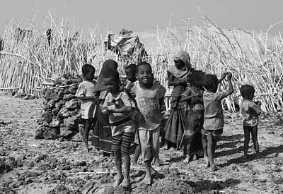 Childern Of The Danakil, Ethiopia Poster by Aidan Moran