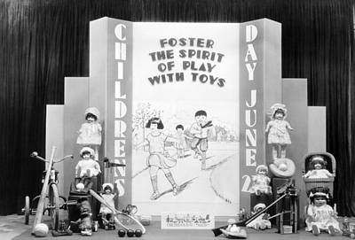 Childrens Day Display Poster by Underwood Archives
