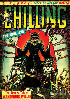 Chilling Tales 17 Horror Comic Cover Restored Poster by Halloween Dreams