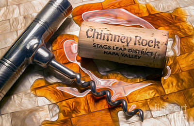 Chimney Rock Uncorked Poster by Jon Neidert