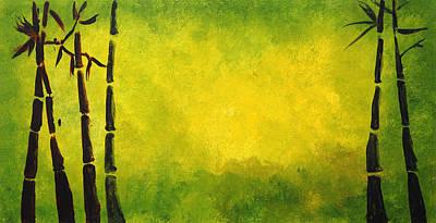 Chinese Bamboo Design Poster by Nirdesha Munasinghe