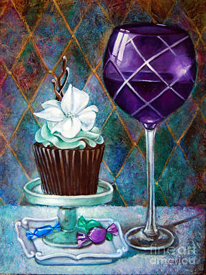 Chocolate Mint Cupcake Poster by Geraldine Arata