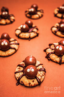 Chocolate Peanut Butter Spider Cookies Poster by Jorgo Photography - Wall Art Gallery