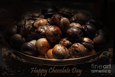Chocolate Quote 1 Poster by Bouquet  Of arts