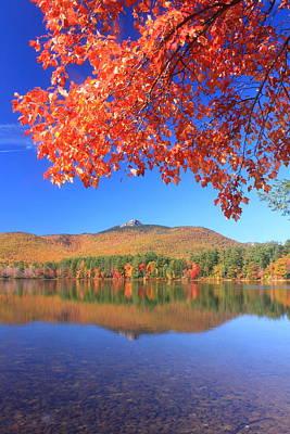Chocorua Lake Foliage Poster by John Burk