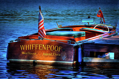 1958 Chris Craft Utility Boat Poster by David Patterson