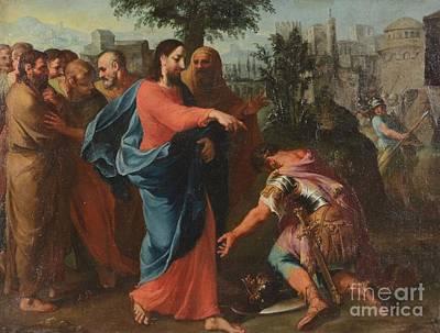 Christ Healing The Centurion's Servant Poster by  Bernardo Castello