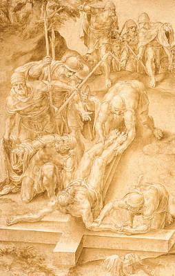 Christ Nailed To The Cross Poster by Lelio Orsi da Novellara