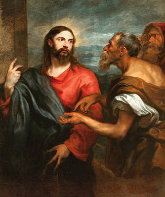Christ Of The Coin Poster by Anthony van Dyck